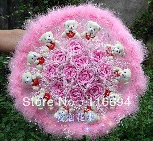 Wedding gift new festive supplies creative simulation dried flowers cartoon bouquet free shipping ZA415