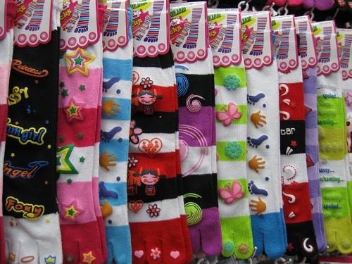wholesale 10pairs/lot , five fingers socks /for adults sock/ladies/chlildren cartoon sock