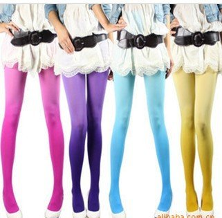 Wholesale  2012 Fashion  Vintage Lady Sexy Ombre / Graduated Watercolor Velvet Stockings Tights Leggings Pantyhose