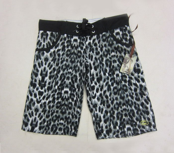 Wholesale 2012 lady women female's best gift Polyester material clothes Pant High quality Leopard grain surf short free shipping