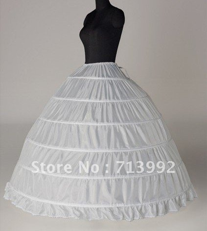 Wholesale, 2013 the latest fashion six hoop bride marriage gauze skirt, skirt lining free delivery
