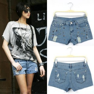 Wholesale 2pcs/lot Free Shipping Distressed Slim Shorts Pants,short jeans,Women shorts, jeans pants,pants women