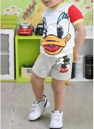 wholesale 5 PCS summer han edition children's wear girls  boy Cartoon mickey sports wear pants beach