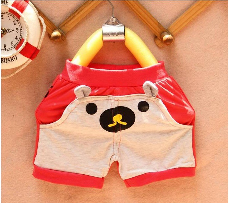 wholesale 5 PCS summer han edition children's wear girls  boy Little rabbit   leisure sports wear pants beach