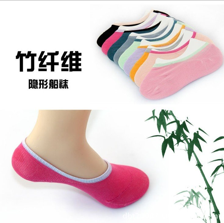 Wholesale - Bamboo fibre Ladyinvisible socks deodorization Female 12pair/lot A959 Free Shipping