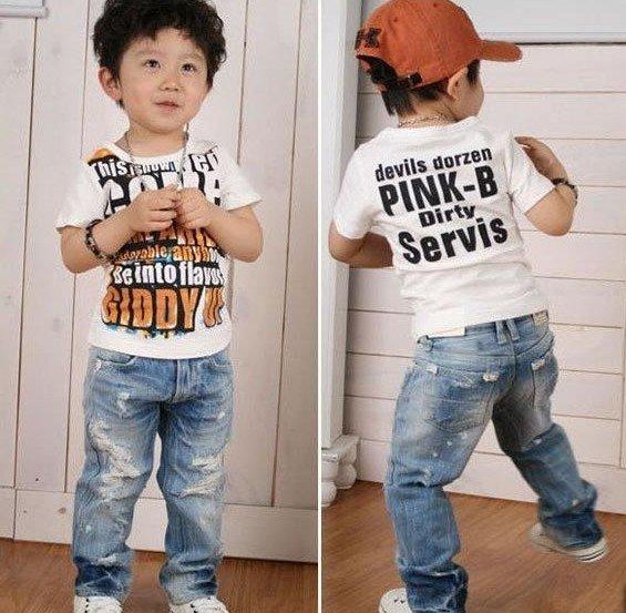 wholesale boy's legging girl's trousers Tight leg pants Holes jeans free shipping 10pcs/lot