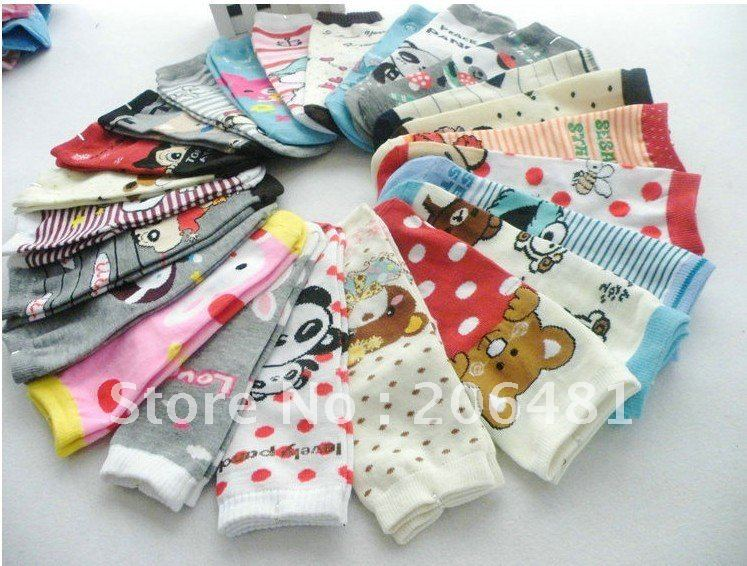 Wholesale Cute Cartoon Cotton Long Socks 30 Pairs/Lot Free Shipping (Drop Shipping Support)