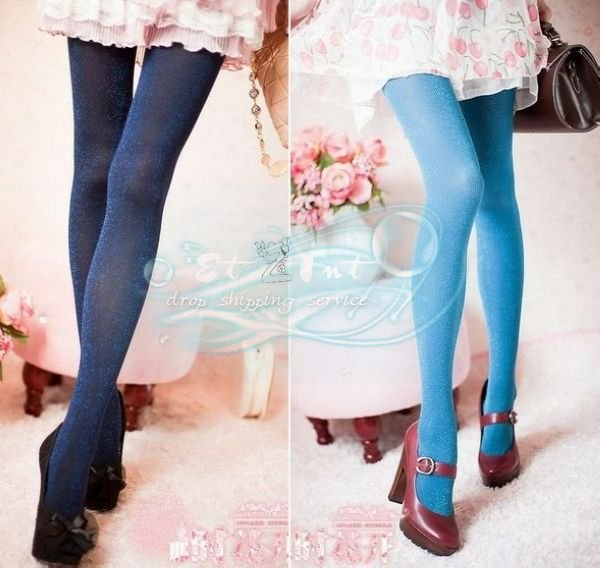 Wholesale Fashion autumn and winter Liangsi thick section was thin stripes pantyhose stockings primer socks