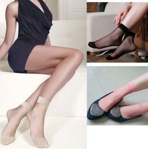 Wholesale Fashion Ladies Nylon Silk Stockings Women's socks Multi-Color Short Silk Socks Lady Summer Socks Good flexibility