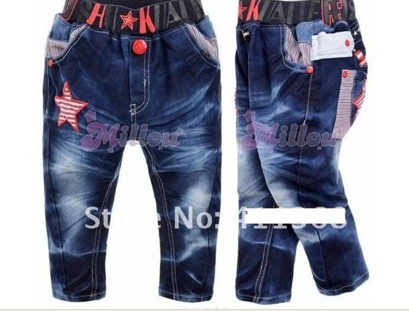 Wholesale, free shin pping 2012 Autumn new children/baby boys and girls/kids jeans pants
