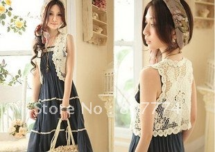 wholesale  Free shipping Bohemia women hollow-out crochet vest sweater casual top mix order