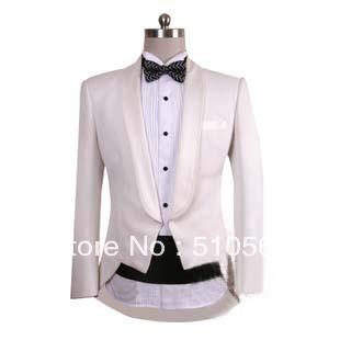 Wholesale Free shipping Ceremony Evening Party Groomsman Bridegroom Tuxedos custom made men Suits (jacket+pants)