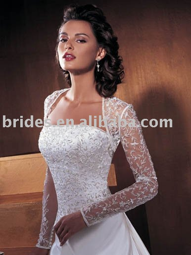 wholesale free shipping white/ivory/champagne Evening Wedding Bolero WJ6081 fashion bridal boleros wedding boleros