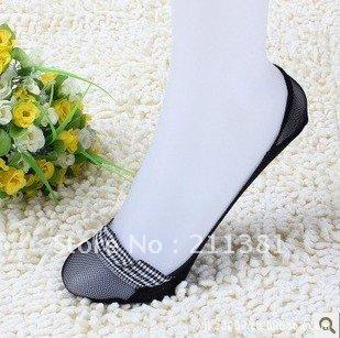 Wholesale free shipping women socks anti-skidding socks lace pure cotton Boat Sockshigh-heeled shoes Invisble Socks SYL03