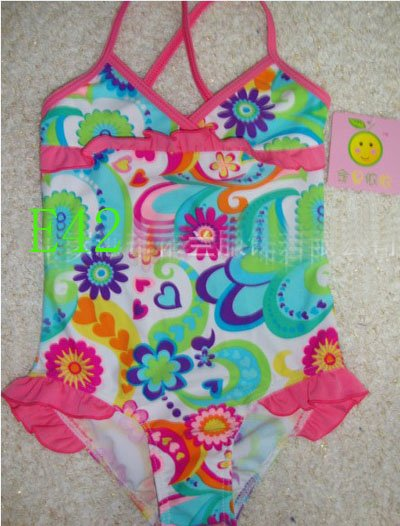 Wholesale-Kids COVER-UPS Swimwear fashion swimwear swimming suit for kids swimSuit with dresses Children swim