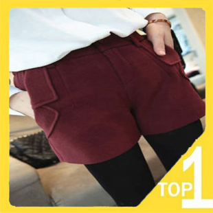 Wholesale New 2012 Casual slim Women's shorts winter warm wool short pants with 4 colors Fast shipping