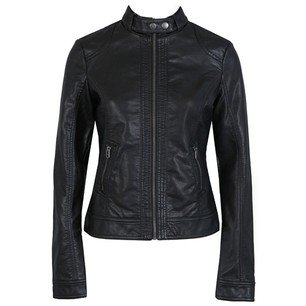 wholesale New Arrival single Pimkie lady washed PU leather motorcycle jacket Slim women short jacket plus size