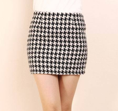 wholesale super short skirt petticoat Sweater grid suit-Dress free shopping Sleeveless vest skirt Slim Fit dress