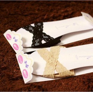 Wholesale woman anti-slip crossed lace sponge feet pad black/skin color