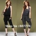 wholesale women Empire halter jumpersuit top+pants three color  jumper backless sexy overall casual romper  mix order