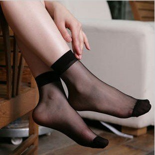 Wholesale ~ Women transparent socks with many colors , free size and nylon material , breathable , Free shipping