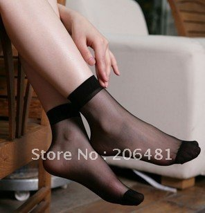 Wholesale Women Ultra-thin Color Silk Socks 100 Pairs Free Shipping