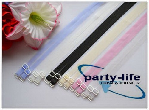 wideth 1cm Adjustable Candy color silicone Bra Straps ,100paris/lot, free shipping