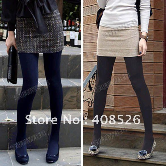Winter Fashion Slim Fleece Tights Pantyhose Warmers Leggings Women Stockings 5 Colors 3329