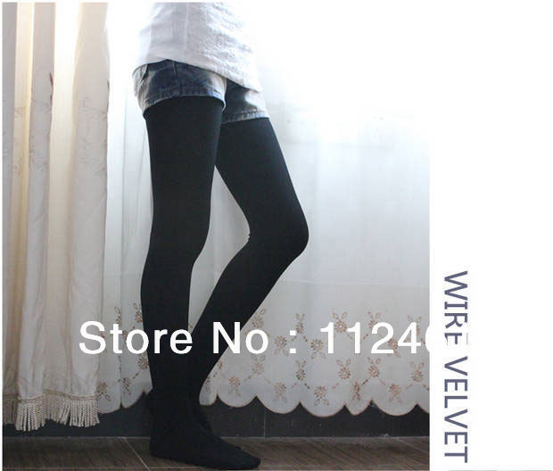Winter Fashion Slim Fleece Tights Pantyhose Warmers Women Leggings Stockings Free shipping 1pc