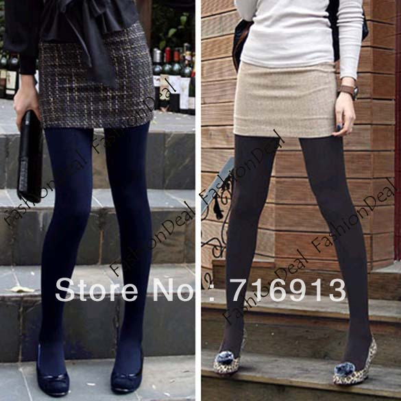 Winter Fashion Slim Fleece Tights Pantyhose Warmers Women Stockings 5 Colors Free shipping 3329