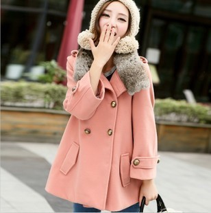 Winter maternity clothing winter outerwear wool coat medium-long woolen thickening maternity outerwear