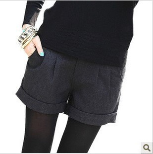 Winter maternity clothing woolen shorts maternity belly pants maternity thickening shorts adjustable boot cut jeans
