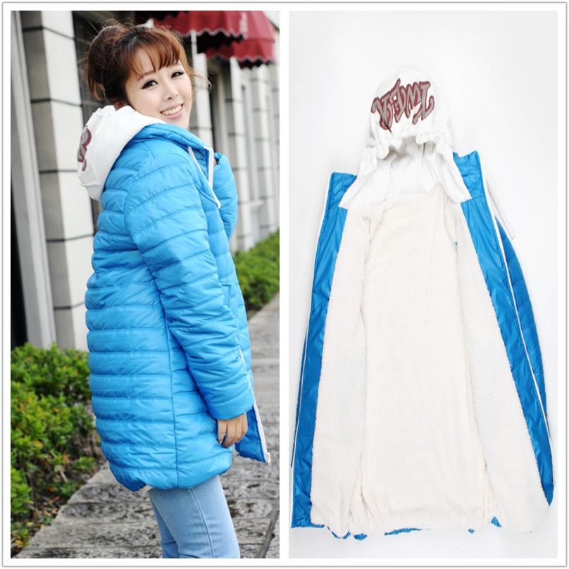 winter maternity cotton-padded jacket maternity outerwear plus velvet berber fleece maternity wadded jacket Maternity Coat