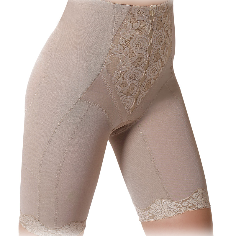 Woman body shaping butt-lifting stovepipe beauty care pants lace plastic pants