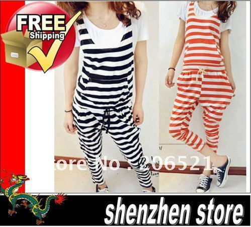 woman's romper fashion stripe wear body panties for woman 2 colors stylish free shipping HK airmail