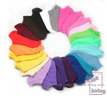 woman socks, Candy colors, like rainbow,21pcs/lot ,21 different colors for 3 weeks.size 35-38,best price,wholesale