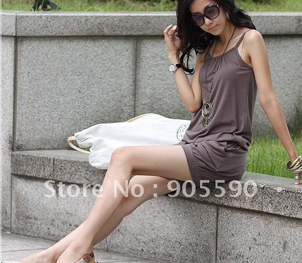 Women Fashion Sleeveless Romper Strap Short Jumpsuit Scoop 3 Colors free shopping Y2003