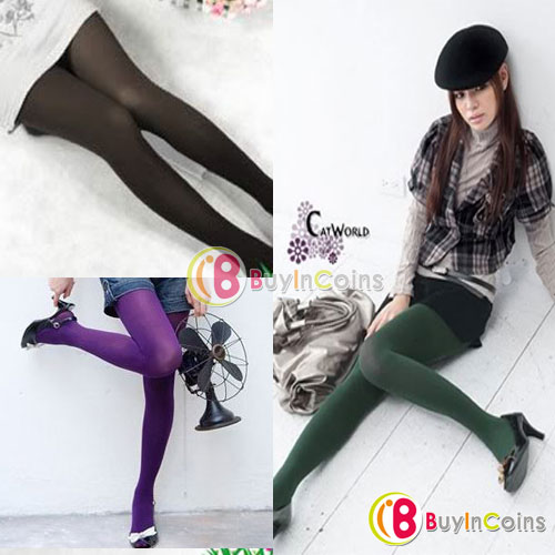 Women Fashion Style Velvet Opaque Pantyhose Color Stockings Tights 80D Leggings [9237|99|01]