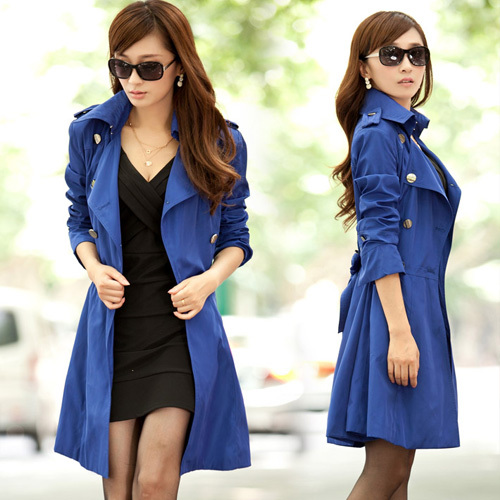 Women Free Shipping Best Autumn NEW Long-sleeve Outerwear Double Breasted Female Long Design Trench Size S\M\L\XL\XXL\XXXL D218