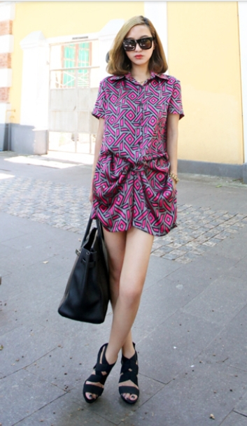 women geometric picture printing casual rompers