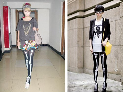 Women Halloween Skeleton Bone Skull Tights Pantyhose Leggings Stocking Punk New[040245]