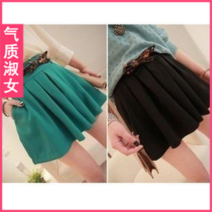 Women's 2012 summer vintage high waist ruffle all-match culottes k582 summer