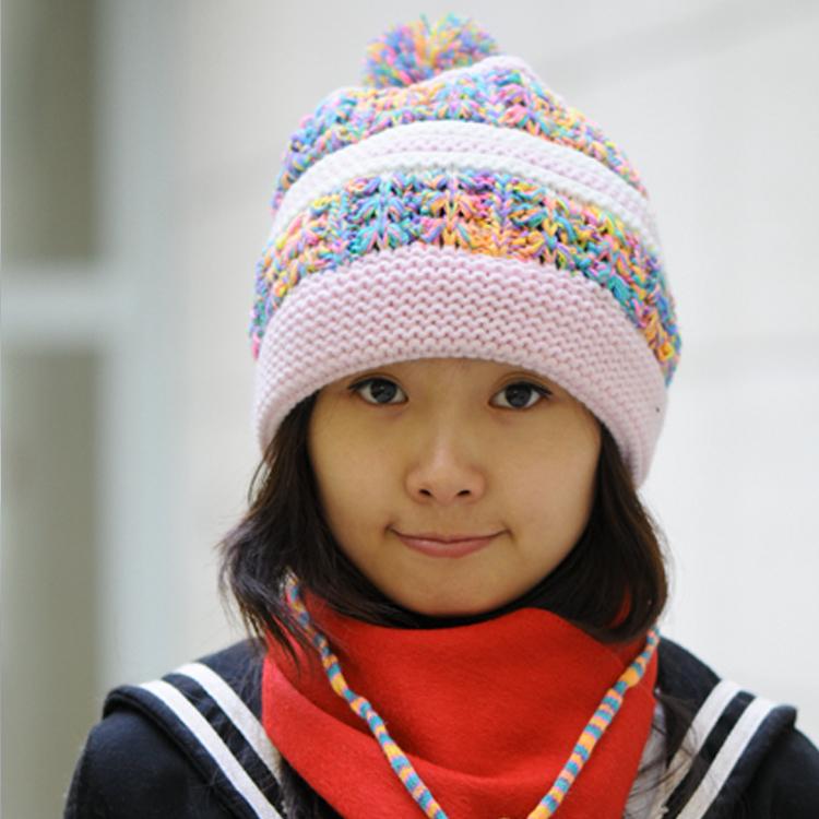 Women's cap winter knitted ear hat warm hat fashion hat female