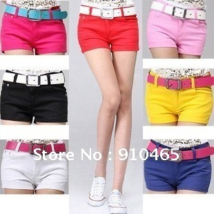 Women's Colorful Candy Pencil short Pant/Hot Pant  Free Shipping Wholesale 1Pcs/Lot