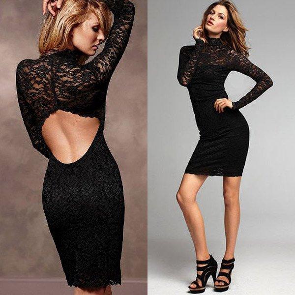Платье С Кружевной Спиной Купить