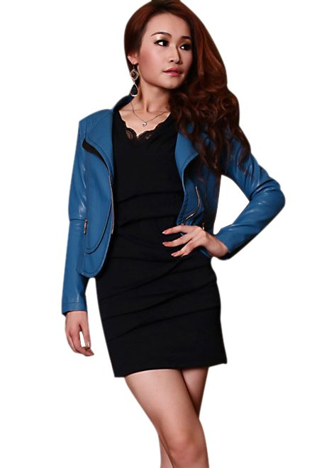 Women's jacket,2012 Autumn lady's PU leather coat,slim outerwear Free shipping WWJ002
