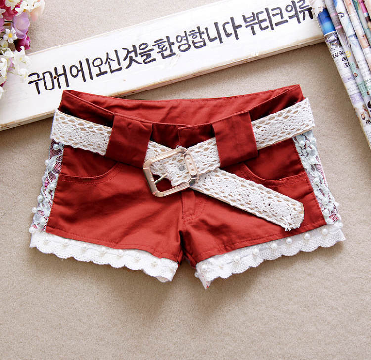 Women's Jeans Lace Shorts Sexy Hot Pants Free Shipping ID: SLA041