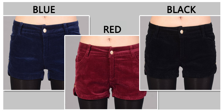 Women's/lady's corduroy shorts,hot pants,thickened materail,fashion,winter/spring,bootcut,Free Shipping