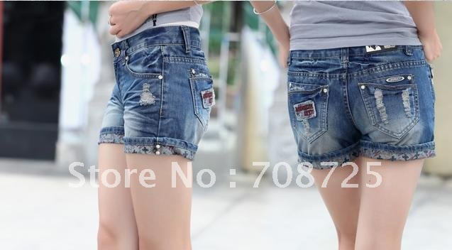 Women's new bull-puncher knickers female loose sundress flanging bull-puncher knickers hot pants tide big yards
