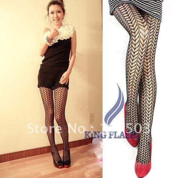 Women's Sexy Grid Net Pattern See Through Pantyhose Stockings Leggings Black 5998